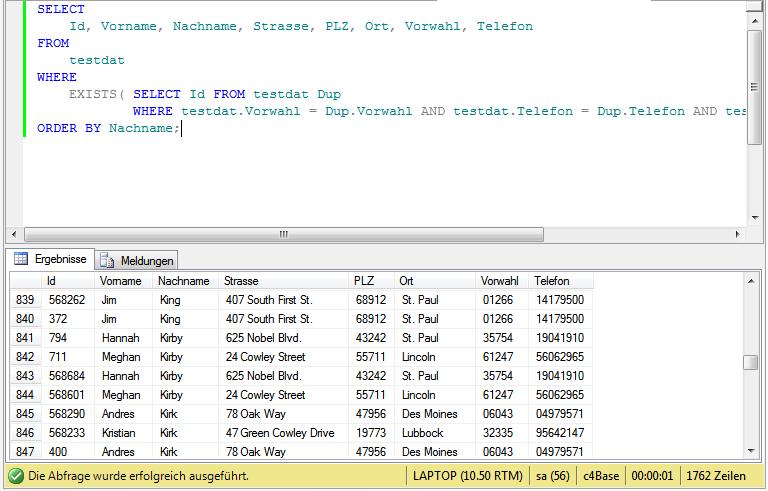 SQL-Duplikate Variante 2